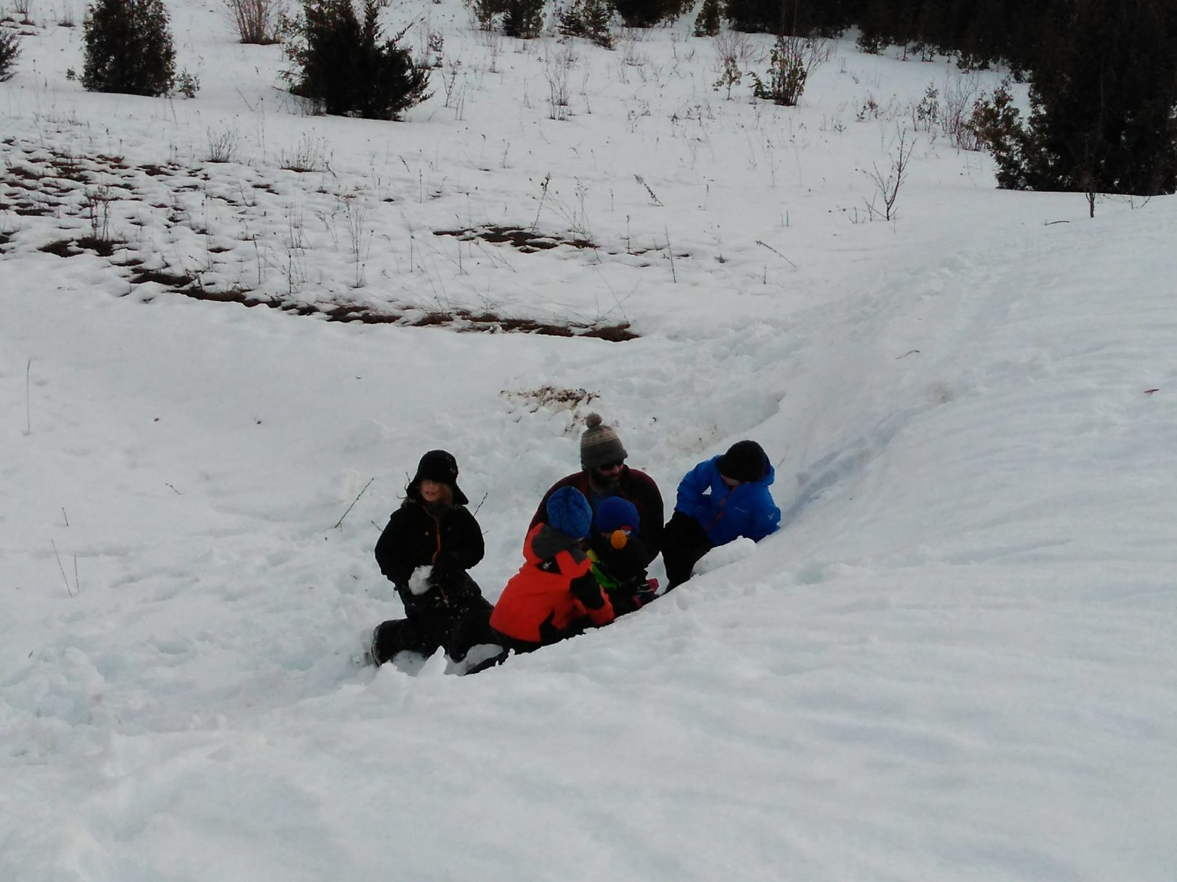 Snow Trenches, Snow Caves and… rain?!